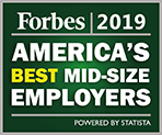 Forbes 2019 America's Best Mid-size Employers award