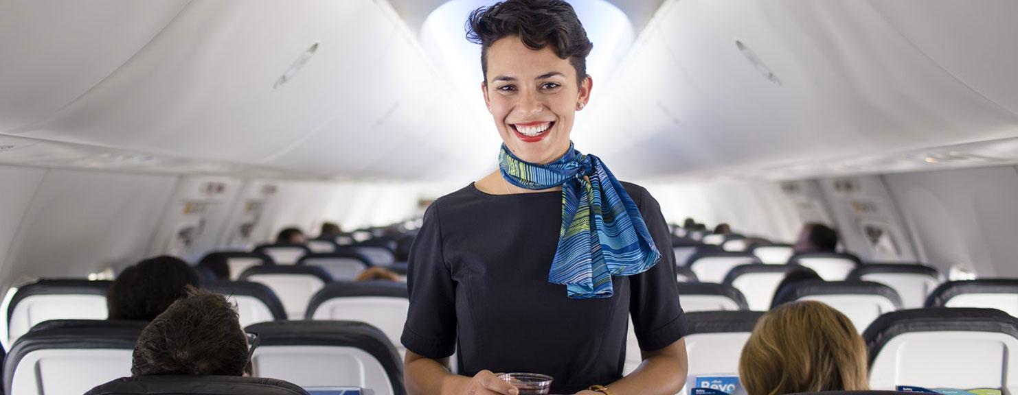 Alaska Air flight attendant