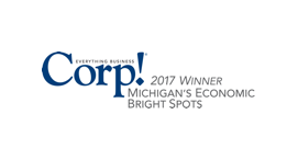 Corp! Magazine 2017 Winner Michigan's Economic Bright Spots, Awarded by Corp! Magazine
