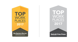 Top Work Places 2017, Awarded by the Charlotte Observer and Detroit Free Press