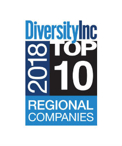 DiversityInc Top 10 2018 Regional Companies logo