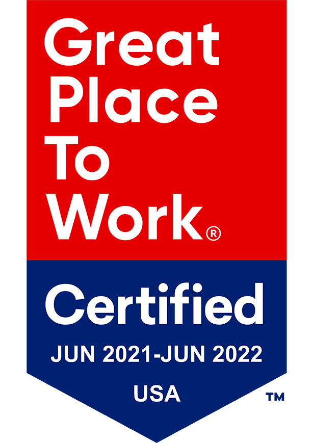 2021-2022 Great Place To Work Certified