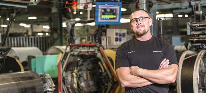 veteran employee - arms folded