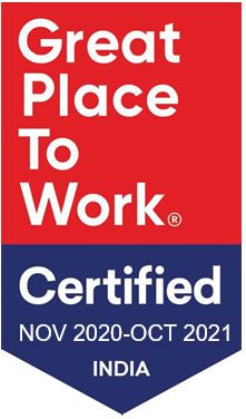 Great Place to Work India Certified 2021