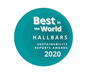 Hallbars Best in the World Sustainability Reports Awards 2020
