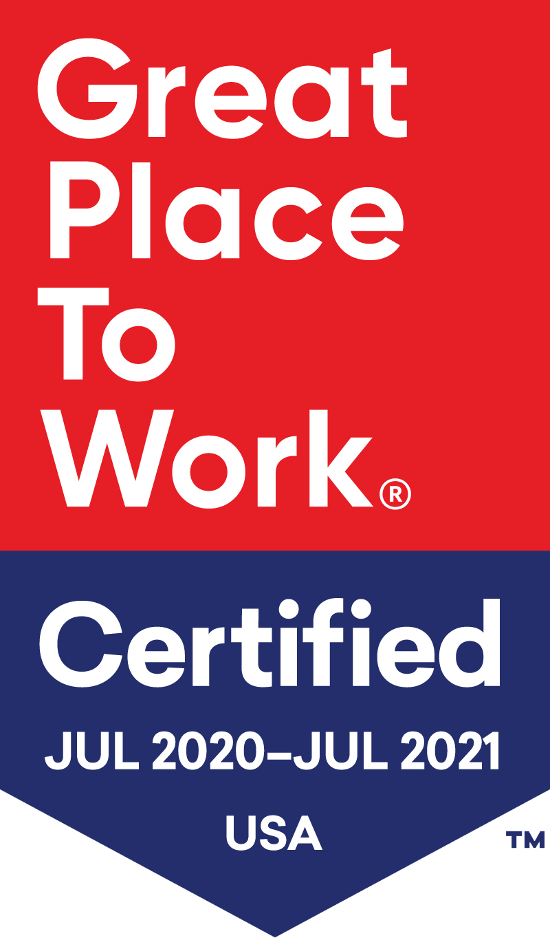 Great Place To Work Certified 2020-2021