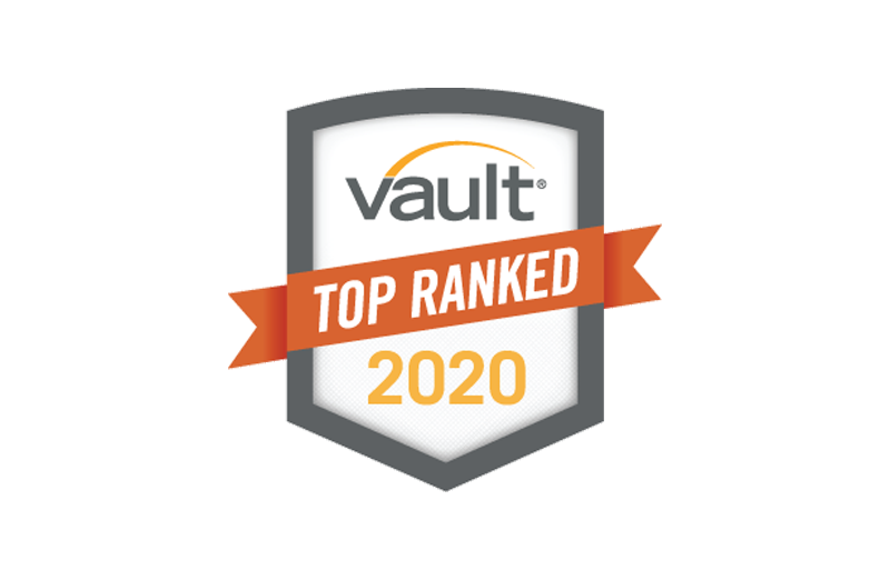 Vault Top Ranked Intership 2020