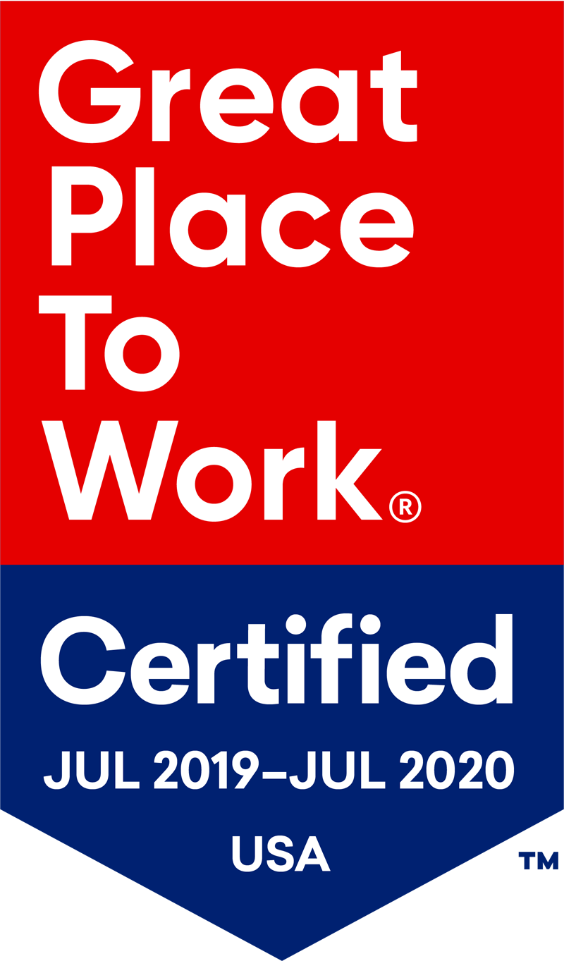 Great Place To Work Certified 2019-2020
