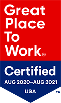 Great Place to Work Certified 2020-21