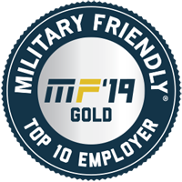Military Friendly top 10 employer 2019