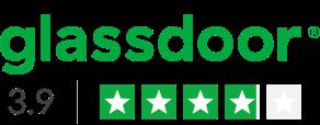 glassdoor - 3.9 rating