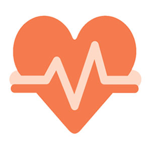 Heart Icon with EKG lines