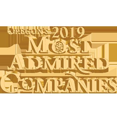 Oregon's 2019 Most admired Companies award