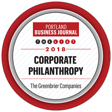 Portland Business Journal Corporate Philanthropy award