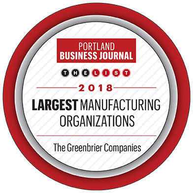 Portland Business Journal Largest Manufacturing Orgs award