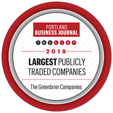 Portland Business Journal Largest Publicly Traded Companies award