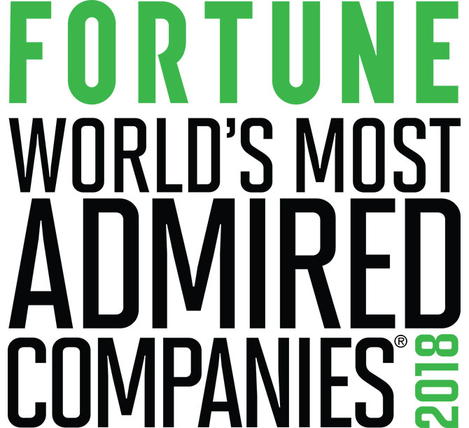 Fortune most admired company 2018 award