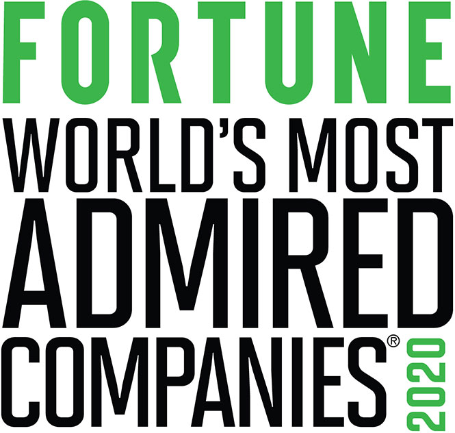 Fortune most admired company 2020 award