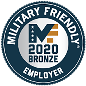 military friendly 2020 employer logo