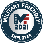 military friendly 2021 employer logo