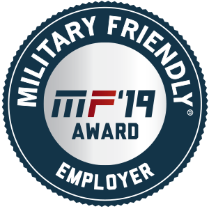military friendly 2019 employer logo