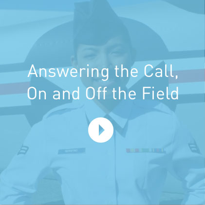 Video: Answering the call, on and off the field