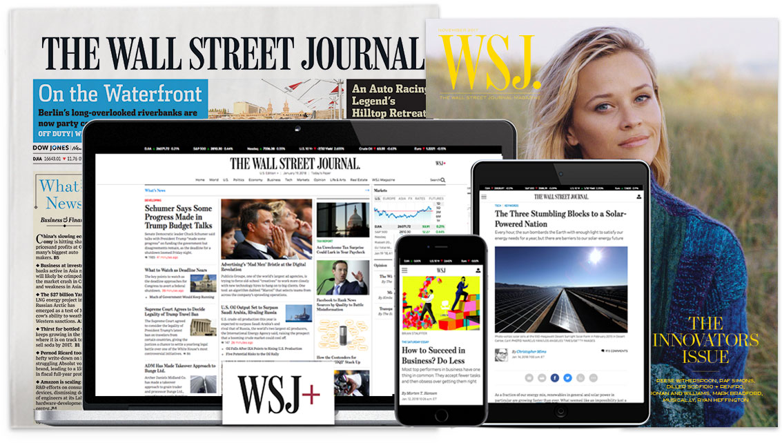 Wall Street Journal with digital devices